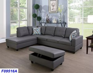 New Grey sectional with Ottoman for Sale in Puyallup, WA
