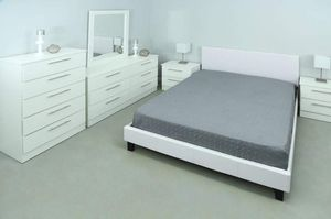 NEW 5 SET QUEEN BED FRAME CRISTAL DRESSER AND CHEST AND 2 NIGHTSTANDS MATTRESS IS NOT INCLUDED for Sale in Miramar, FL