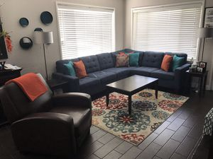 **PENDING** Blue Reversible Sectional for Sale in Upland, CA