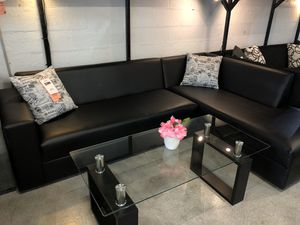 Modern Black Sectional Sofa for Sale in Virginia Gardens, FL