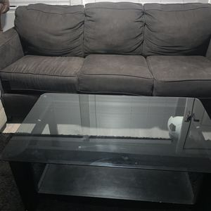 Black Coffee Table With Glass Top for Sale in Phoenix, AZ