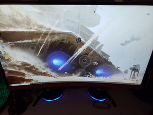 27 inch led curved 1440p 144hz monitor for Sale in Sacramento, CA