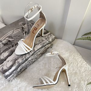 Size 5 Strappy Open Toe Stiletto High Heels Dress Sandals for Sale in Las Vegas, NV