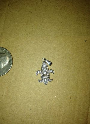 Silver charm with diamonds for Sale in Cleveland, OH