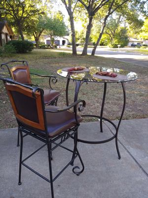 3-Piece Metal Breakfast/Dining Room Table Set for Sale in Austin, TX