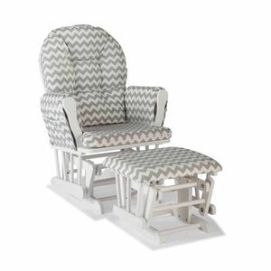 Grey and white Chevron glider and ottoman for Sale in Pittsburgh, PA