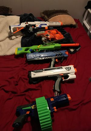 6 nerf guns for 38 for Sale in Riverside, CA