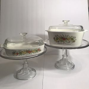 Vintage Corningware Spice Of Life Casserole Dishes (2) for Sale in Gainesville, FL