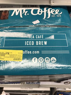 Mr. coffee iced tea maker 2.5 quarts in a box no regular price 5999 on sale 2699 for Sale in Parma Heights, OH
