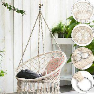 Milky Garden Hammock Chair for indoor outdoor Balcony Tree for Sale in Ontario, CA
