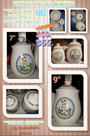 Vintage Precious Moments 2 pc. Canister Set for Sale in Phoenix, AZ