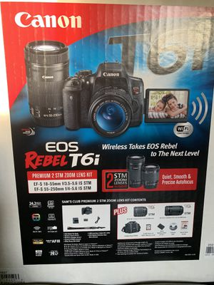 Canon Eos Rebel T6i Camera Kit for Sale in Hobart, IN