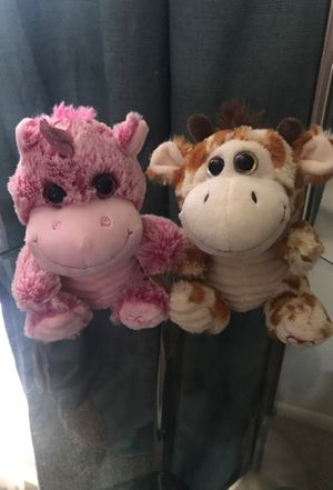 Giraffe and unicorn plushys for Sale in Largo, FL