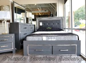 $50 down financing! BRAND NEW GREY ASHLEY QUEEN BED FRAME DRESSER AND MIRROR for Sale in Oviedo, FL