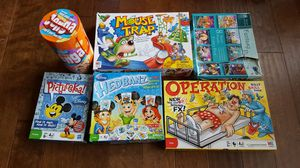 Board Games Mouse Trap, Picture! Operation, Disney Hedbanz, Fantasy Puzzles for Sale in Camas, WA