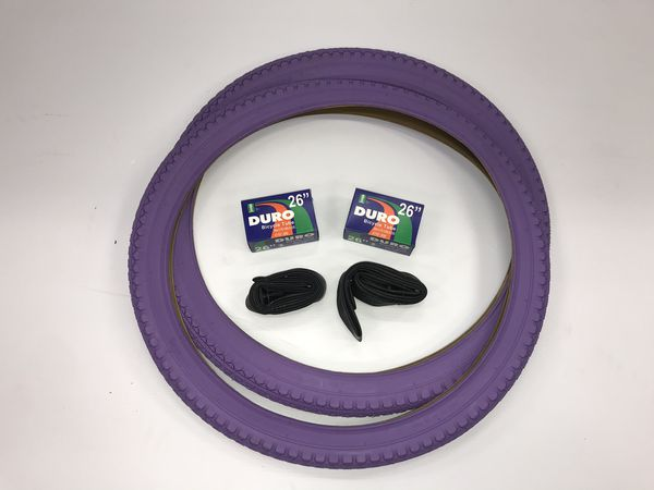 "26""X2.125 Purple Beach Cruiser Tires Bundle"