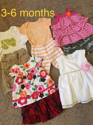 Baby girl clothes/skirt, pants,dress, shirts size 3-6 months for Sale in Pacific, WA
