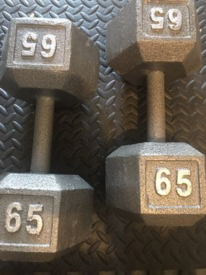 65 lbs heavy hex new dumbbells set for Sale in San Leandro, CA