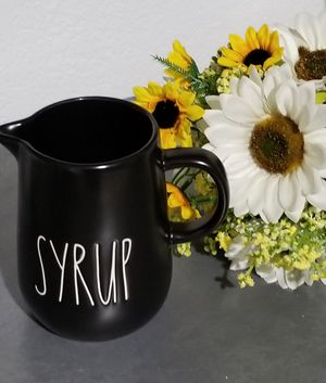 Rae Dunn SYRUP jug / farmhouse decor kitchen home storage for Sale in Lynwood, CA