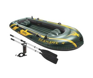 Inflatable Boat Set with Oars and Air Pump for Sale in Pomona, CA
