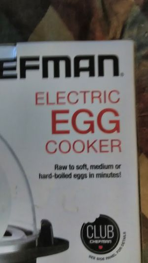 Chef man electric egg cooker for Sale in Waipahu, HI