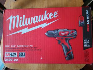 Milwaukee 12V Volt M12 Cordless Impact Drill /Driver Power Tool Kit w/ 2 Batteries BRAND NEW for Sale in Seattle, WA