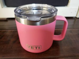 YETI Rambler 14 oz Stainless Steel Insulated Mug with Lid - Pink for Sale in Irvine, CA
