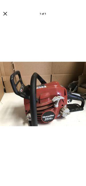HomeLite 3514c Gas Powered Chainsaw chain saw engine motor powerhead USED for Sale in Cincinnati, OH