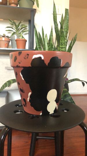 "Hand Painted 8"" Clay Terracotta Plant pot for Sale in Los Angeles, CA"
