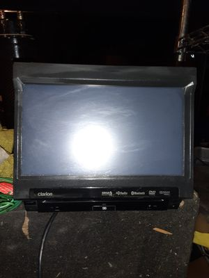 Clarion dvd flipout indadh for Sale in Lancaster, CA