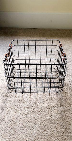 Modern Wire Basket Gray/Rose Gold 11L x 10W x 8H for Sale in Lexington, VA