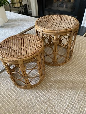2 Beautiful rattan side table/plant stand for Sale in Alpharetta, GA