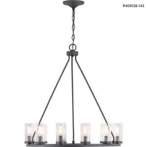 Progress Lighting Hartwell 12-Light Graphite Chandelier w/Nickel Accents for Sale in Dallas, TX