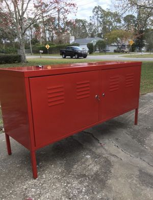 Ikea Red Metal Lockable Storage Cabinet for Sale in Kissimmee, FL