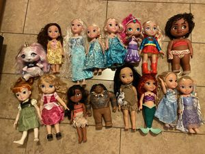 Disney princess dolls ( each $5 or whole package $50) for Sale in Miami, FL