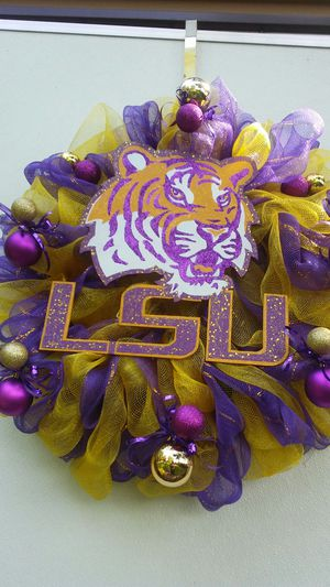 LSU Door Wreath for Sale in Homer, LA