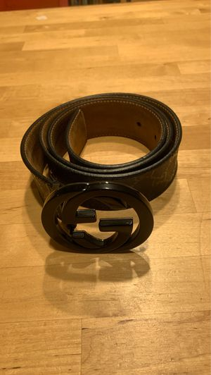 Gucci Men's Black Leather Supreme GG Belt 36 inch for Sale in Santa Ana, CA