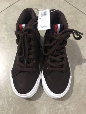Old Navy Boy's Dark Brown Faux-Suede High Tops / Boots, Size 12, 2 for Sale in San Diego, CA