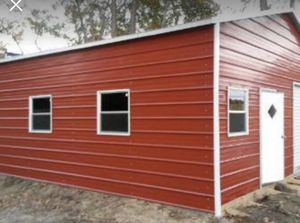 New 20' x 26' x 9' Steel Garage with 2 Garage Doors for Sale in Taunton, MA