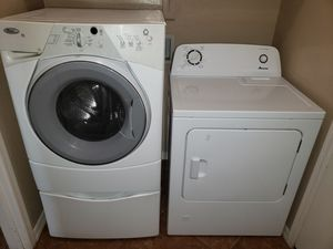 Whirlpool front load washer and Amana Dryer electric washer/dryer both in good condition. $250 OBO for Sale in Phoenix, AZ
