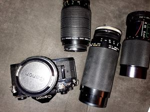 Canon A-1 camera and random lenses for Sale in Lockhart, FL