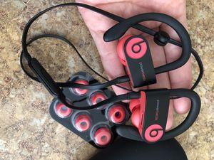 Powerbeats 3 wireless Bluetooth headphones in ear siren red works great for Sale in Rosemead, CA