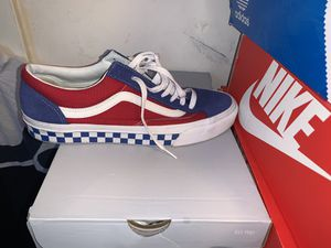 Men's sneakers. Vans, Steve Madden sneakers, And Filas with the shirt for Sale in Philadelphia, PA