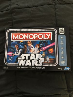 Star Wars Monopoly 40th Anniversary Edition Board Game for Sale in Tampa, FL