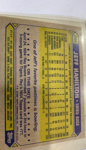 Jeff Hamilton 1982 topps for Sale in Mesa, AZ