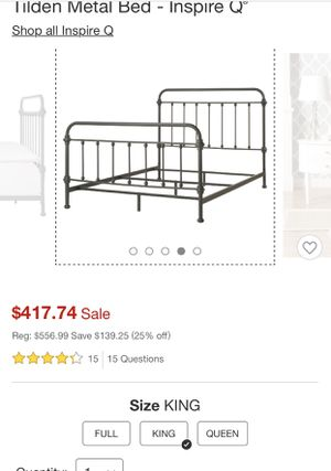 King Size Bed Frame for Sale in Denver, CO