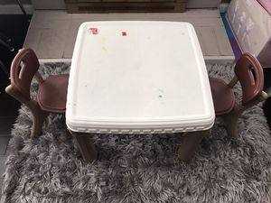 Step 2 kid plastic table with 2 chairs for Sale in Norco, CA