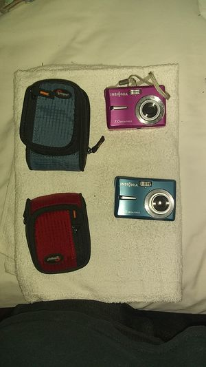 2 Insignia digital cameras with cases. for Sale in Surfside Beach, SC