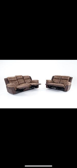 Sofa and love seat both recline for Sale in PA, US