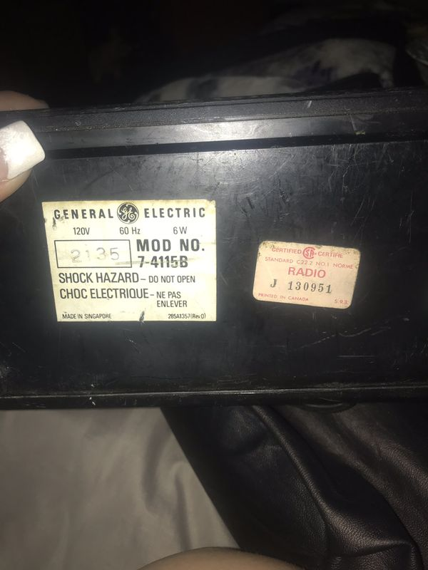 General Electric antique tv